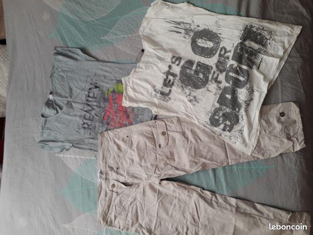 T-shirts et pantacourt taille 40