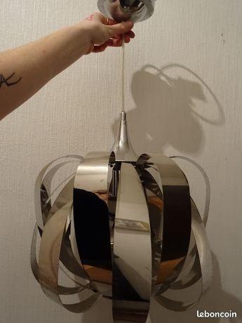 Luminaire suspension métal