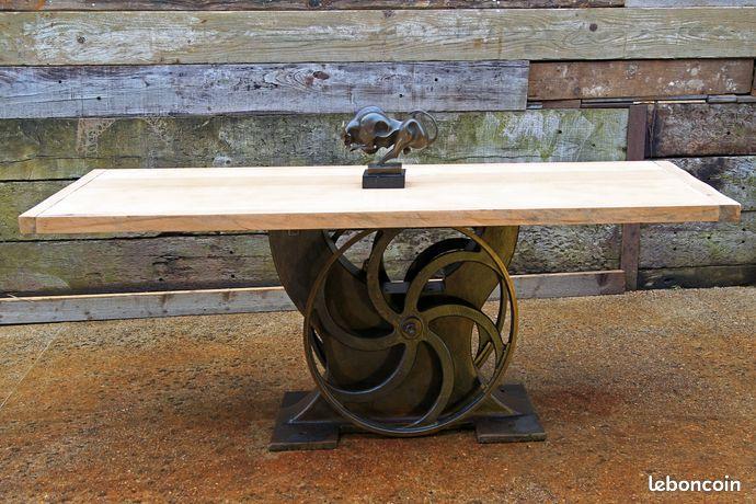 Table meubles contemporain haut de gamme design Industriel - Table à manger Salon en bois verre