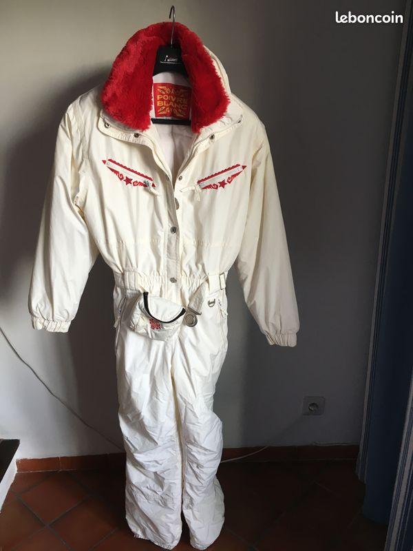 Combinaison de ski poivre blanc