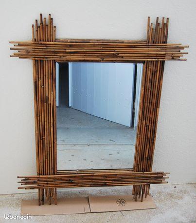Grand miroir bambou déco industrielle ou autre