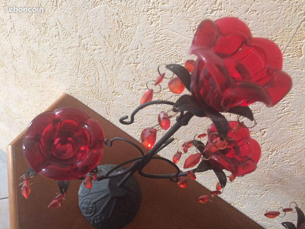 Lot de 2 chandeliers en fonte - 37 cm