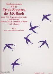 Bach 3 sonates pour viole de gambe et clavecin