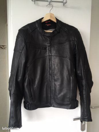 Blouson moto cuir noir homme Mac Adam Exo