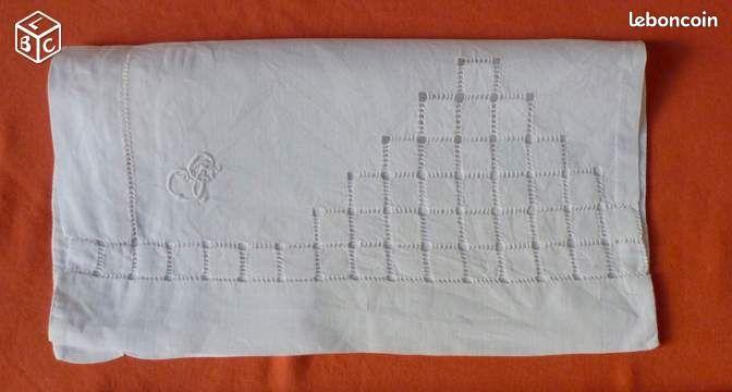 Ancienne pochette pour serviette de table brod e linge de maison bouches du rh ne - Pochette serviette de table ...