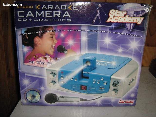 Karaoke - Brive-la-Gaillarde - KARAOKE NEUF AVEC CAMERA POUR VISIONNER SUR TV- MICRO MARQUE LANSAY - A RETIRER SUR PLACE A BRIVE - envoi frais en sus - prix a débattre me contacter par mail  - Brive-la-Gaillarde