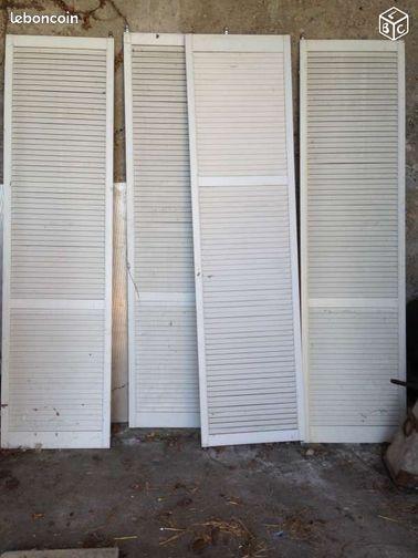 portes de placard PERSIENNES coulissantes pvc Commerces & Marchés ...