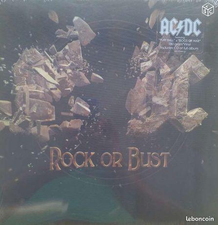 """Acdc rock or bust vinyle collector + cd - Hyères - DOUBLE VINYLE RARE DE ACDC """" ROCK OR BUST """" LEUR DERNIER ALBUM PLUS LE CD LE VINYLE EST NEUF SOUS BLISTER ENVOI DANS CARTON PROTEGE  - Hyères"""