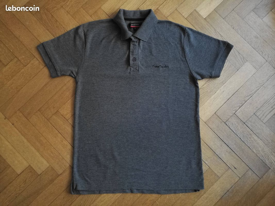 Polo pierre cardin gris taille xs/s