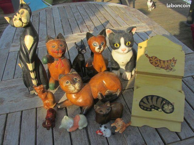 Lot de figurines chat