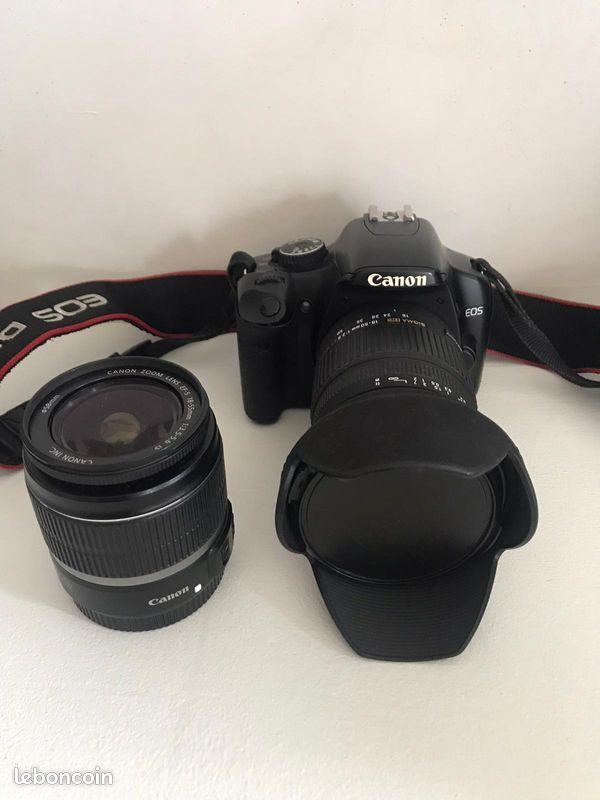Appareil photo canon eos 450d avec équipement