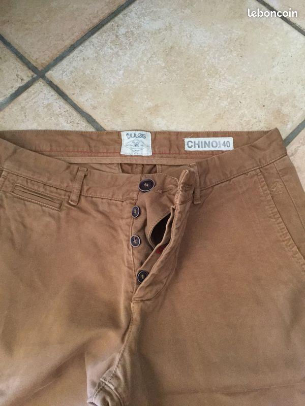 Pantalon chino jules taille 40 camel