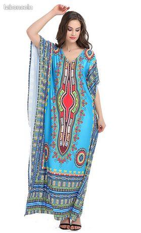 Robe de soirée Dashiki - Chevannes - Robe de soirée Dashiki. Une robe symétrique est parfaite pour tout type de corps. Également parfait pour la sortie Matériel:Polyester,Spandex,Coton longueur: 145 cm épaule: 90 cm taille: uniqque  - Chevannes