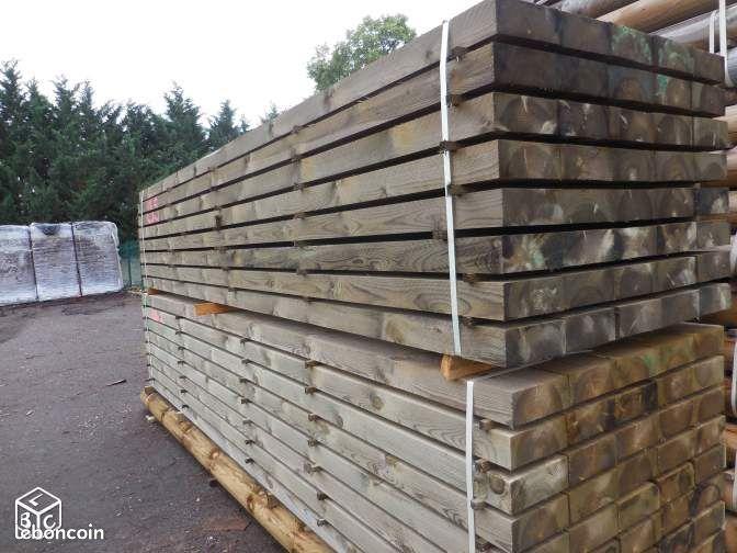 Madrier bois trait autoclave classe 4 bricolage puy de dme for Abri bois autoclave classe 4