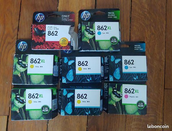 Cartouches imprimante HP 862 couleurs (7 cartouches)