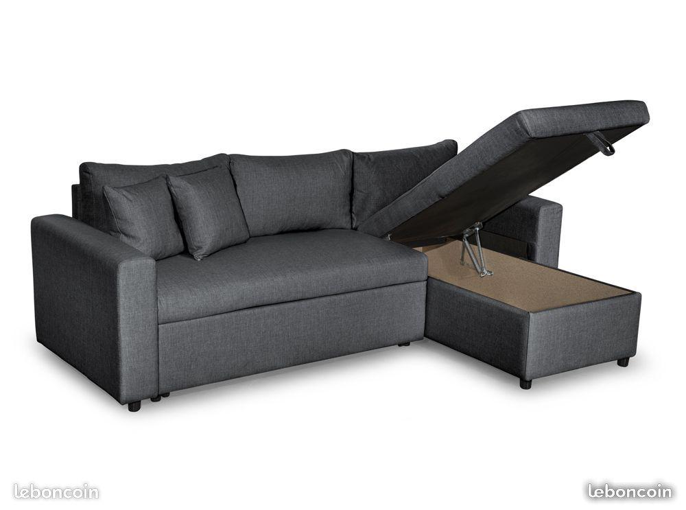 Canapé d'angle convertible et réversible maria
