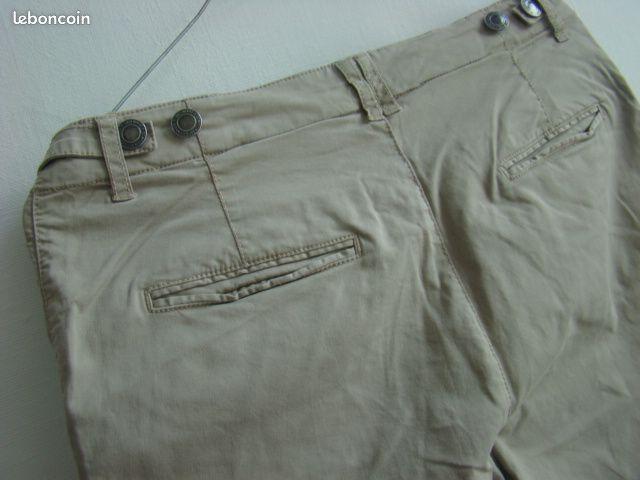 Pantalon beige comptoir des cotonniers t.36 tbe
