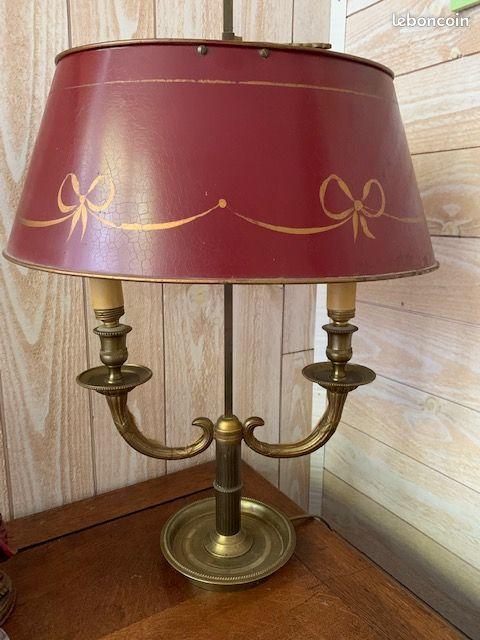 Lampe bouillotte bronze doré du xixeme siècle