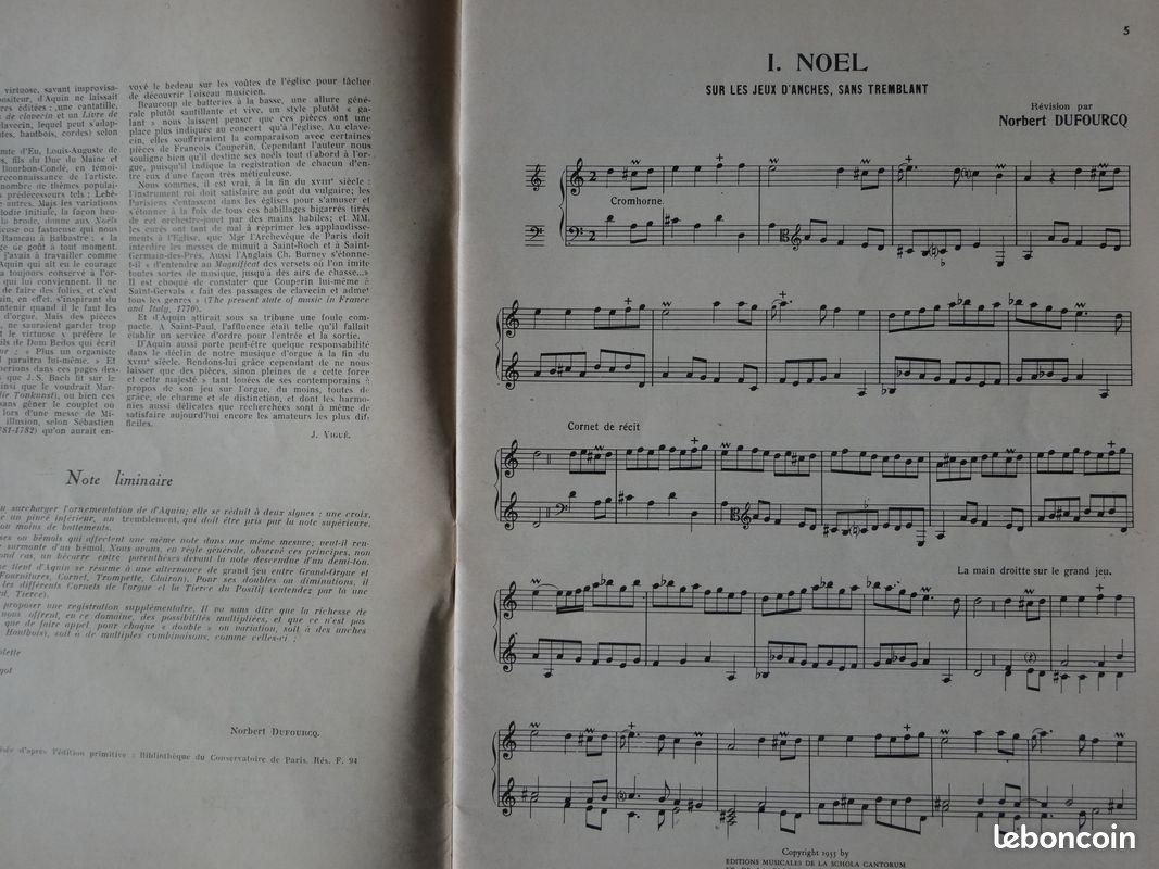 Partition : livre de noëls de d'aquin (mus01)
