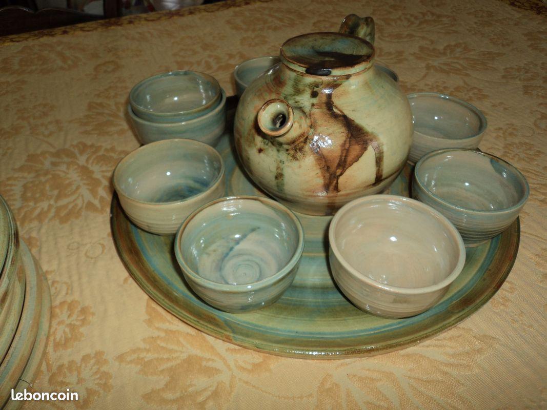 Service à thé en terre cuite, neuf