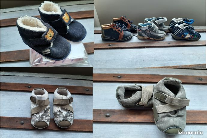 6 paires chaussures pointure 18