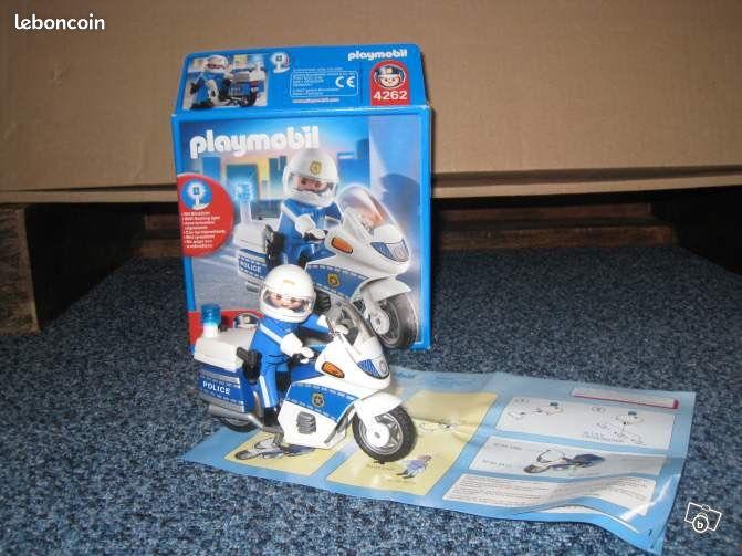 Playmobil moto de police 4262 jeux jouets seine et marne - Jeux de motos de police ...