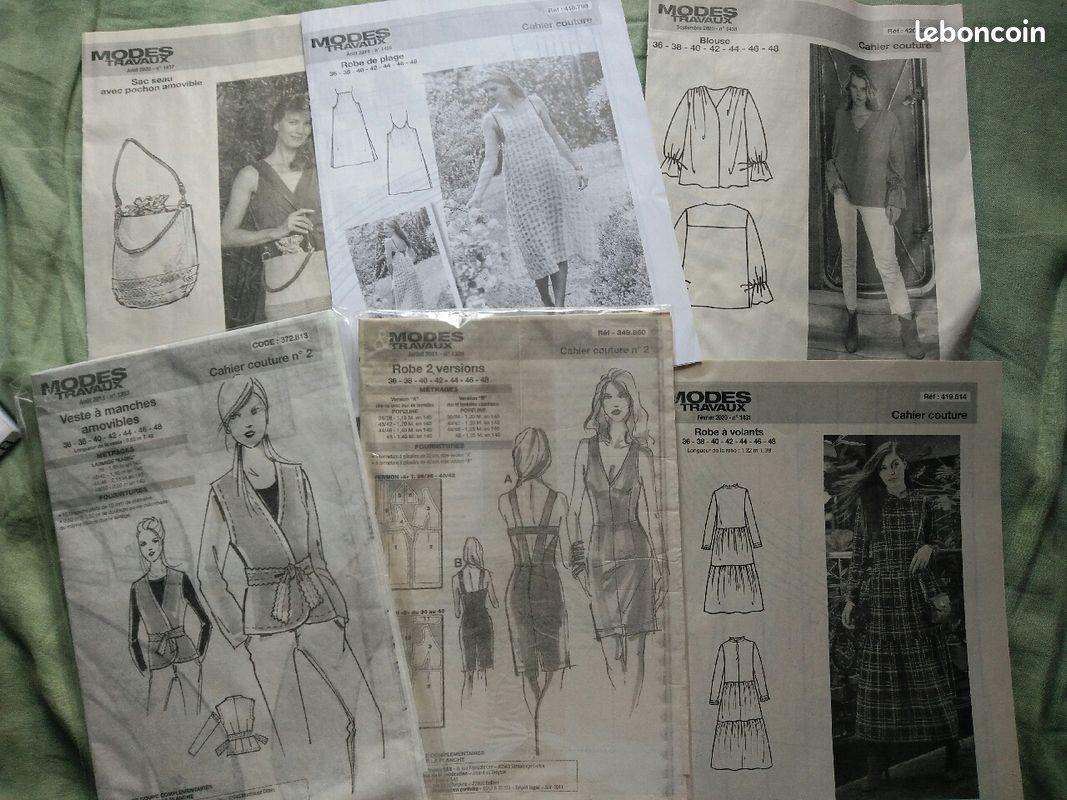 Patrons couture modes et travaux