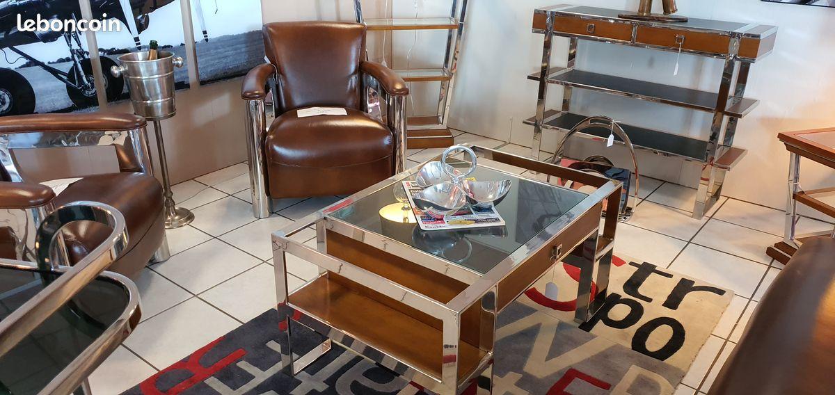 Table basse de salon rectangulaire art déco