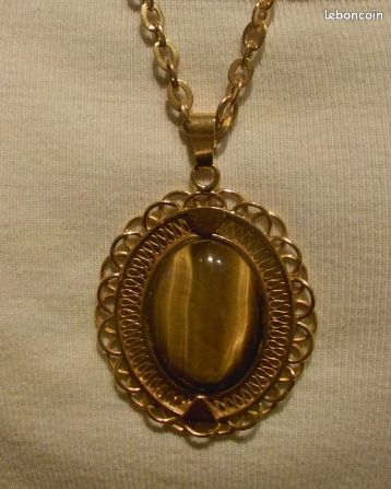 Parure plaqué or chaine, pendentif et bague