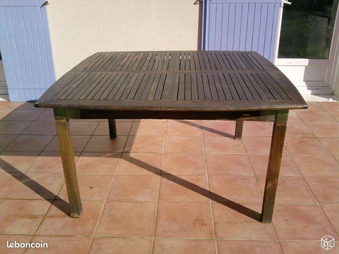 table d 39 ext rieur en eucalyptus soltera ameublement charente maritime. Black Bedroom Furniture Sets. Home Design Ideas