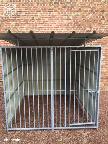 grille chenil box toles galvanis chiens chiots animaux aisne. Black Bedroom Furniture Sets. Home Design Ideas