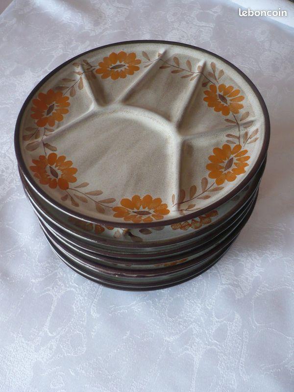 8 assiettes à fondue jacquilon
