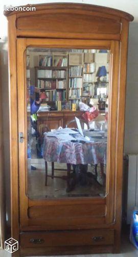 armoire 1 porte bonneti re homme debout miroir. Black Bedroom Furniture Sets. Home Design Ideas