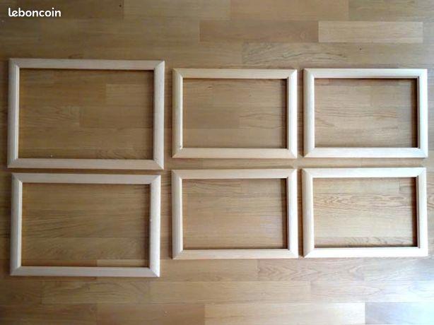 Cadres pour toile en bois, lot de 6