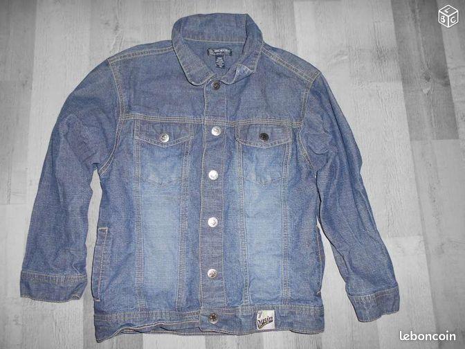 veste en jeans taille 8 ans fille comme neuve sb45. Black Bedroom Furniture Sets. Home Design Ideas