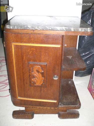 table de chevet ancienne ameublement rh ne. Black Bedroom Furniture Sets. Home Design Ideas