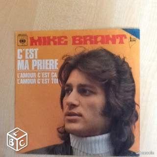 MIKE BRANT 45t c est ma prière - Brest - En TBE 45t de MIKE BRANT 2 titres C'est ma prière et l amour c'est ça Direction d orchestre J C Vannier 6Euro(s)  - Brest