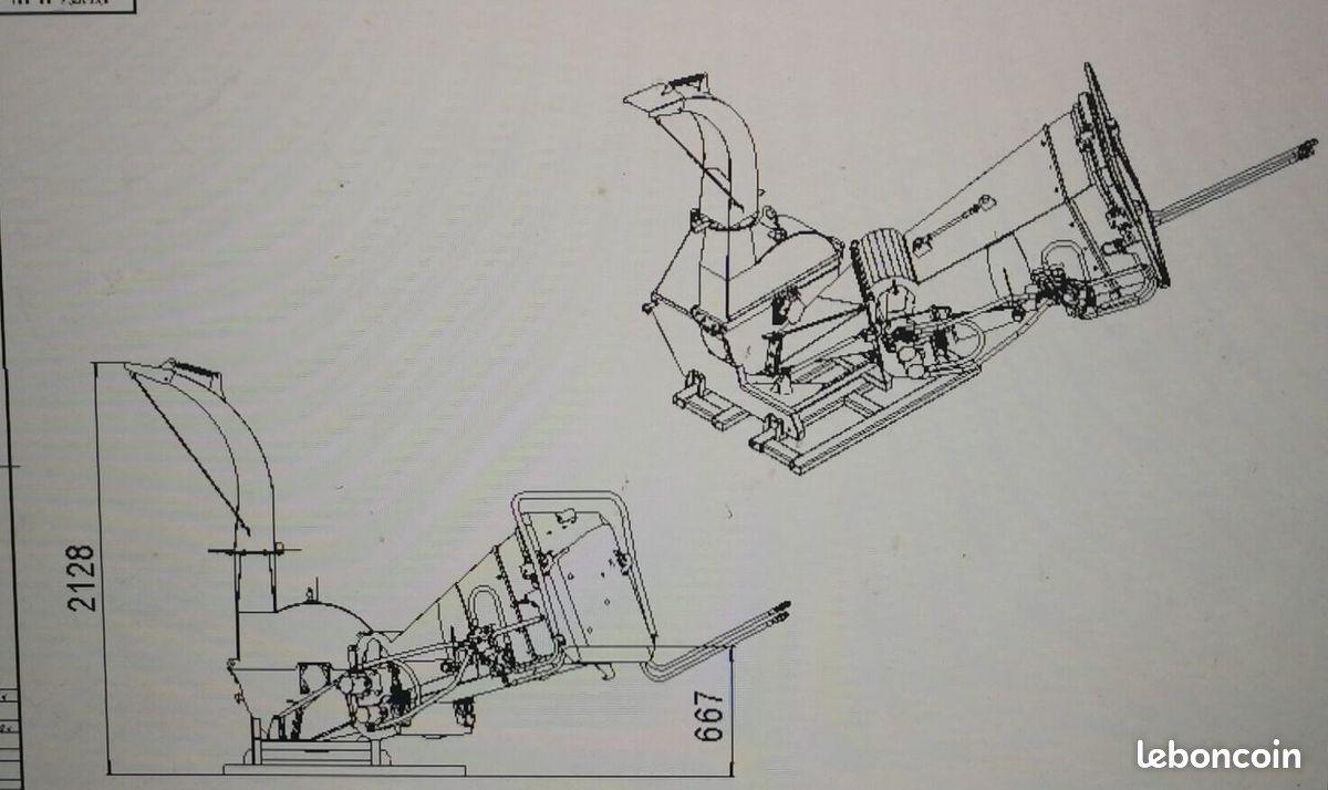 Broyeur de branches et végétaux geo eco 21-z ameneurs hydrauliques – pdf tracteur – 15cm