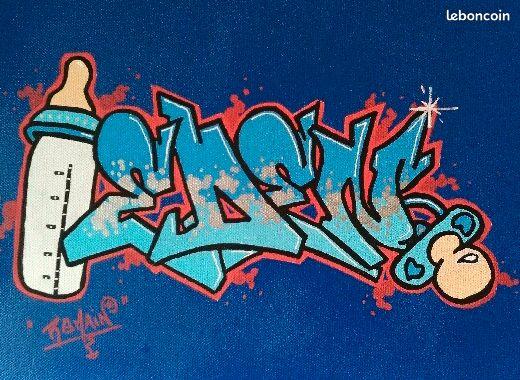 Graffiti sur toile 100% personnalisable