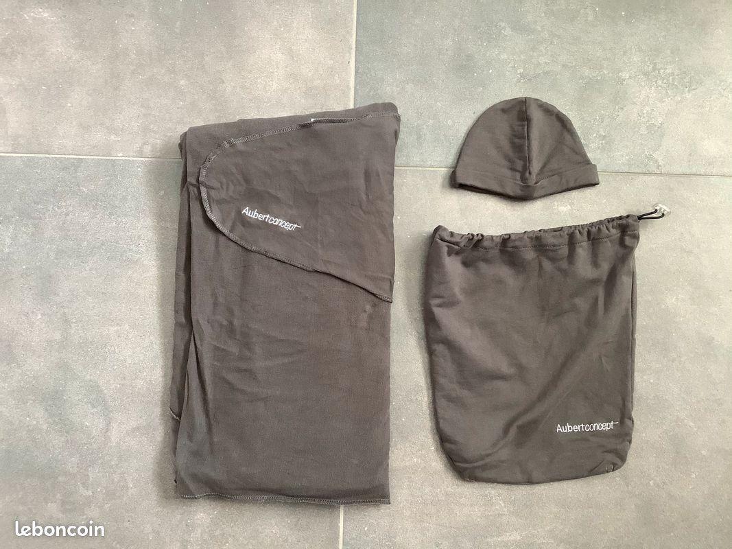 Porte-bébé écharpe gris de aubert concept