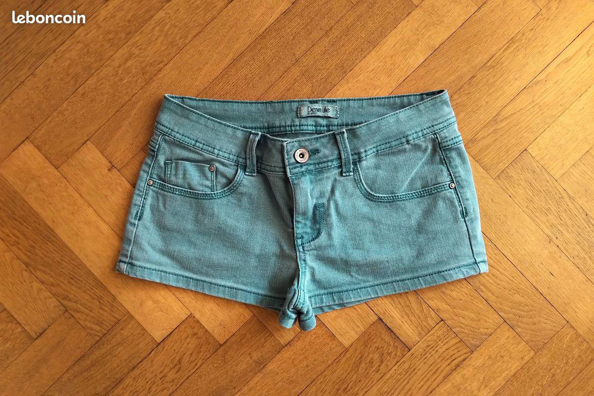 Short court pimkie bleu vert taille 36