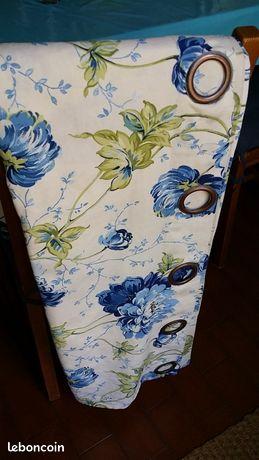 Rideaux (2) à oeillets, coton, taille standard
