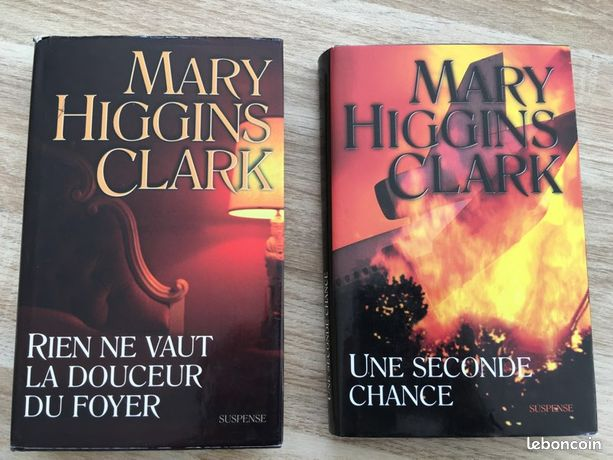 Lot de 2 livres Mary Higgins Clark (ALE22)
