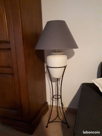 Lampe   pied fer forge