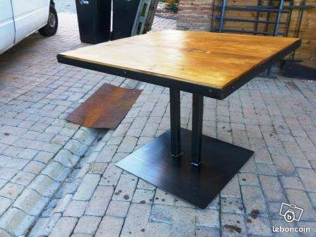 Pied de table basse metal industriel