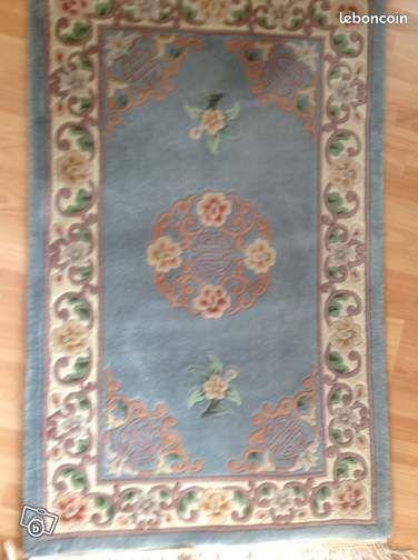 tapis chinois pure laine gris bleu d coration vend e. Black Bedroom Furniture Sets. Home Design Ideas