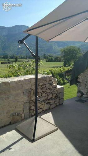 contre poids parasol d port 4 pieds en b ton jardinage is re. Black Bedroom Furniture Sets. Home Design Ideas