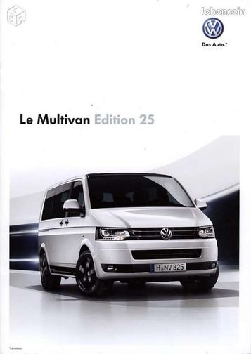 vw catalogue multivan edition 25 t5 2009 equipement auto. Black Bedroom Furniture Sets. Home Design Ideas