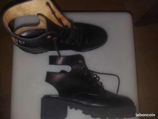 Chaussures mode palladium femme noires