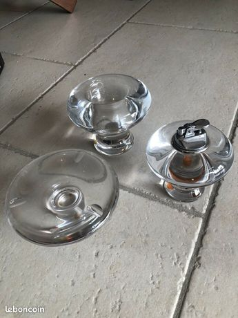 Ensemble pour fumeur ou décoration Briquet Cendrier Verre Ou Cristal Vintage